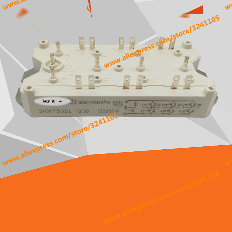 Free Shipping NEW  SKM75GDL123D  MODULE