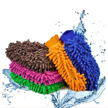 2016 New 1 pcs Super Microfiber Household Car Wash Washing Cleaning Gloves Car Washer Anti Scratch