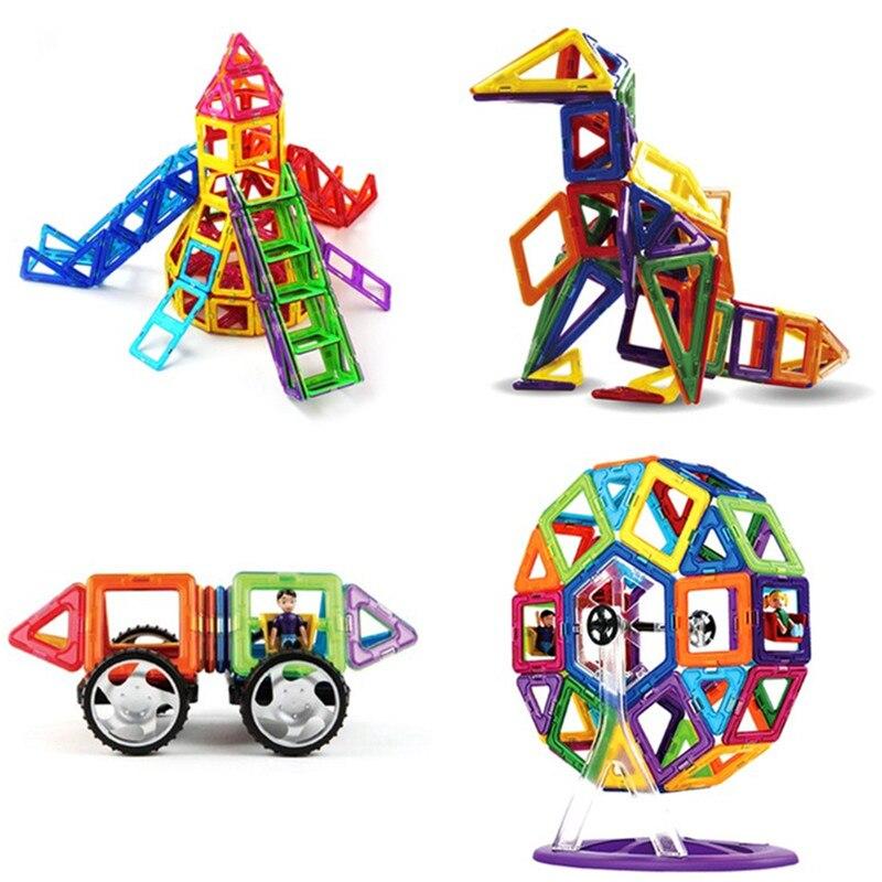 66 pcs 72 pcs 92 pcs Standard Taille Magnétique Modèle de Blocs De Construction Jouets De Construction En Brique Concepteur Éclairez Briques Enfants Jouets