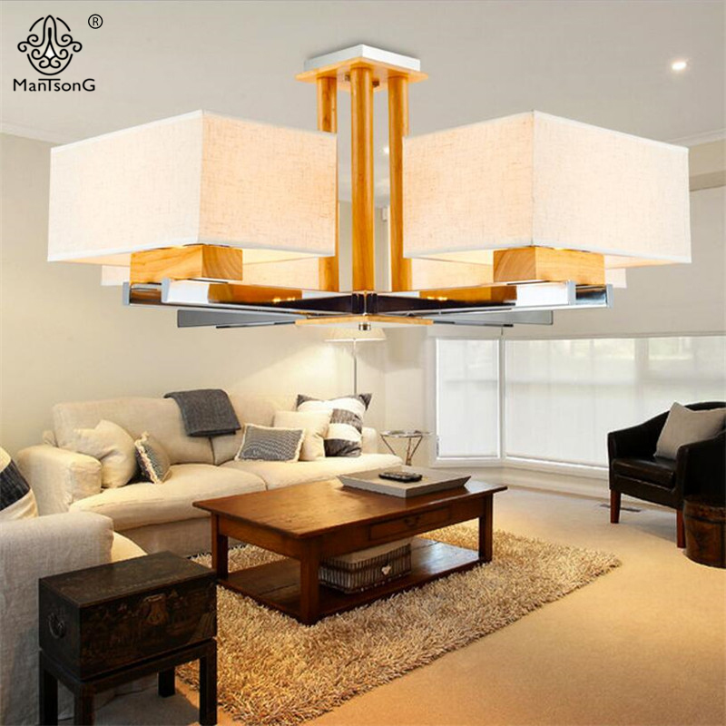 Vintage Modern Pendant Light Nordic Style Wooden White Fabric Lamp Shade E27 Bulb 6 Heads 8 Heads For Home Decor Indoor Lighting акустика центрального канала heco music style center 2 piano white ash decor white