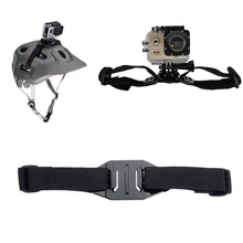 Go Pro Accessories Adjustable Helmet Strap Mount for Xiaomi Yi GoPro Hero 4 3 SJCAM SJ4000 SJ5000 SJ7000 Sports Action Camera