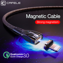 CAFELE Advanced QC3.0 Magnetic USB Cable for iPhone Micro type C Zinc alloy cable Charger Samsung Xiaomi Huawei