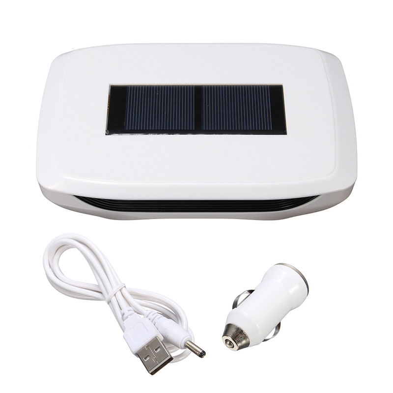 New Solar / USB Air Purifier For Car Home Office Eliminate Formaldehyde sterilization Portable Air Cleaner vention vba a02 solar ionic air purifier for car