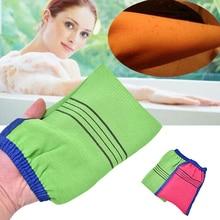 1pc Shower Spa Exfoliator Two-sided Bath Glove Body Cleaning Scrub Mitt Rub Dead Skin Removal Magic Peeling Glove