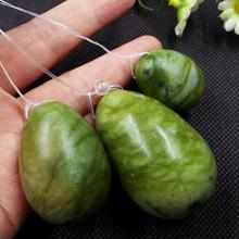 wholesale price dark green natural jade stone kegel egg 3 pcs per set yoni eggs