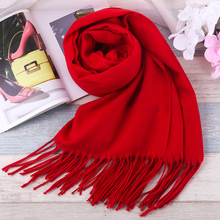 Фотография HOT Luxury Brand Scarf Pashmina Cashmere Scarf Wrap Shawl Winter Scarf Women
