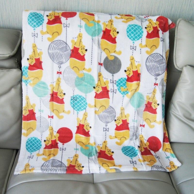 Disney Winnie Minnie Mouse Ariel Baby Boy Girl Birthday Gift Soft Flannel Blanket Towel 75x105cm Pet Dog Cat Throws Gift Packing