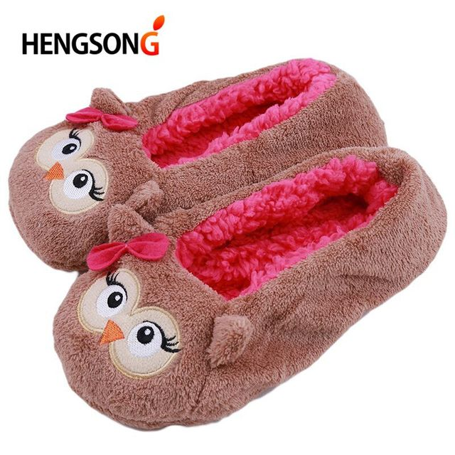 short plush winter slipper women cotton bedroom house home floor