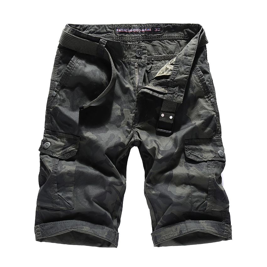 EICHOS New Camouflage Cargo Shorts Loose Man Cotton Casual Work Short Fahion Summer Style Straight Multi-pockets Male Shorts