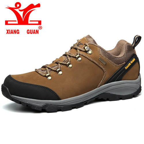 XIANG GUAN Outdoor Shoes men quality waterproof hiking shoes Anti-skid Wear resistant breathable trekking Boots US size 6-12 kelme 2016 new children sport running shoes football boots synthetic leather broken nail kids skid wearable shoes breathable 49