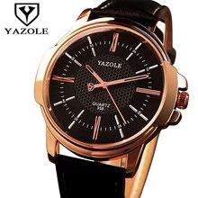 Yazole hombres reloj de oro rosa reloj de los hombres 2017 de primeras marcas de lujo de Oro Famoso reloj de Pulsera de Hombre Reloj de Cuarzo Reloj Relogio Masculino