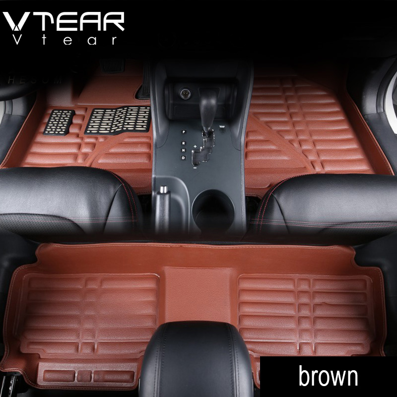 Vtear NEW For Toyota RAV4 2016 car Floor Mats interior model cover leather pad waterproof rugs car-styling products accessory zhaoyanhua car floor mats for bmw x5 e70 f15 pvc leather anti slip waterproof car styling full cover rugs zhaoyanhua carpet line