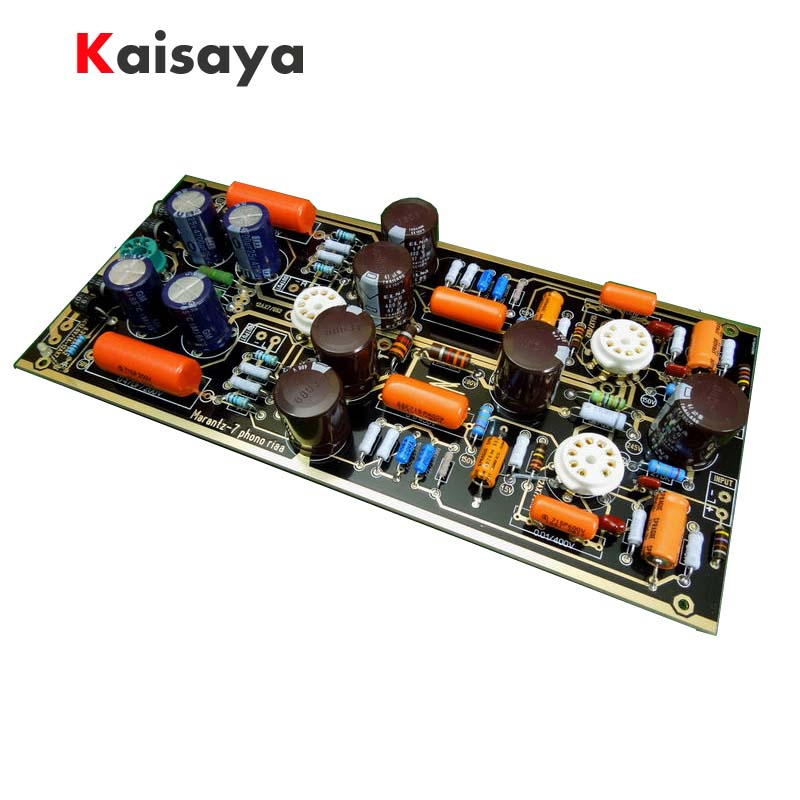 Hi-End M7 Vacuum Tube Phono Riaa LP Turntable Preamplifier HiFi Stereo Marantz 7 Preamp Assembled Board(Without Tube) D4-007 douk audio latest mini 6j1 vacuum tube phono turntable preamp mm mc riaa hi fi class a preamplifier free shipping