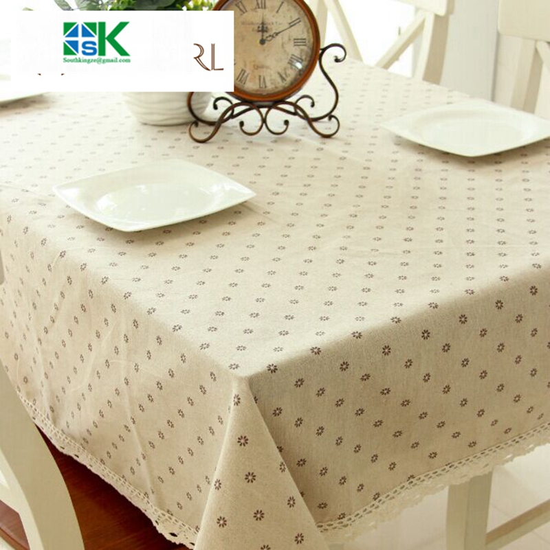 2016 Summer New Factory Direct Daisy Flower Coffee Table Linen Table Cloth  Drape Universal Super Cheap