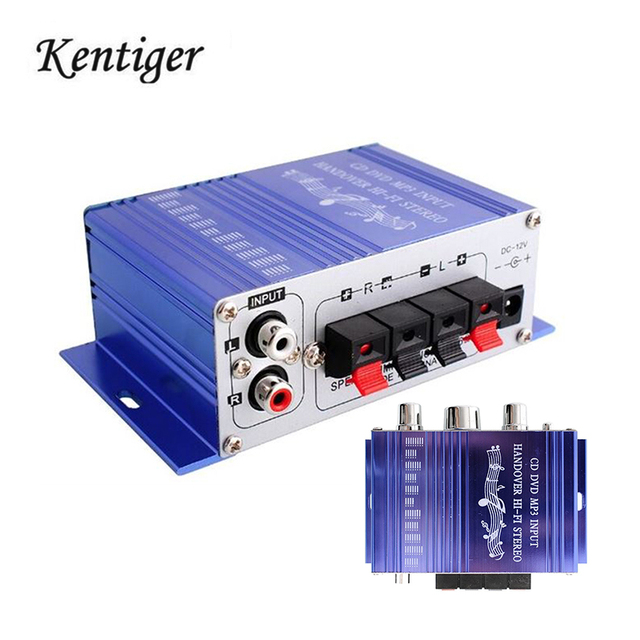 Special Price Kentiger HY2001 2CH Amplifier Hi-Fi Digital Auto Car Stereo Power Sound Mode Music Player Support CD/DVD/MP3/RCA Input Audio AMP