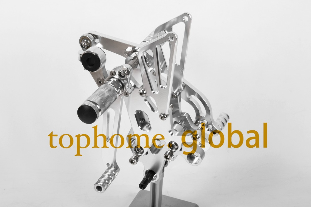 Free Shipping Motorcycle Parts Silver CNC Rearsets Foot Pegs Rear Set For Yamaha YZF R6 2006-2010 2007 2008 motorcycle foot pegs aftermarket free shipping motorcycle parts eliminator tidy tail fit for 2006 2012 yzf r6 yzf r6 yzfr6