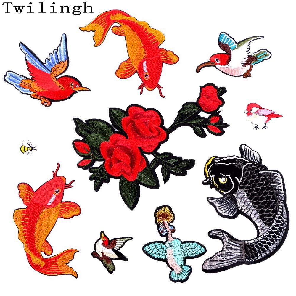1 шт. Патчі для одягу Птиця Риба Квітка - Мистецтво, ремесла та шиття