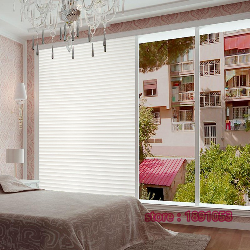 45x200cm pvc opaque blinds striped living room bathroom bedroom office balcony sliding door window glass film sunscreen