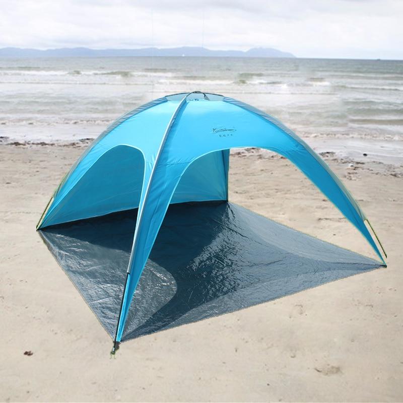 3-4 tentes de plage de soleil abri de soleil Cabana en plein air Portable Camping tente d'été jardin auvent pêche ombre auvent tente