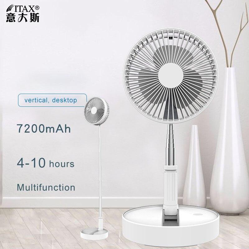 Fã De Carregamento USB portátil Telescópica Dobrável Pouso Ventiladores Desktop Em Casa Ventilador Silencioso ventilador de Mesa Ventilador de Refrigeração Refrigerador de Ar ITAS6651A