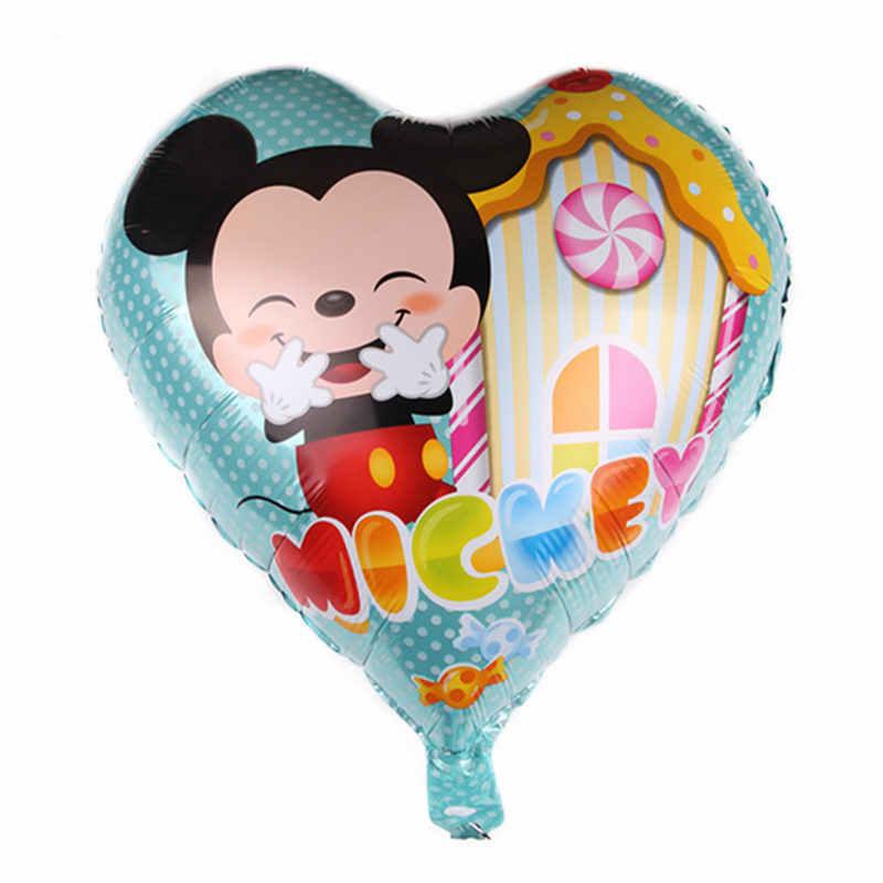 XXPWJ New 18-inch Mickey Minnie Aluminium Balloon Children's Festival Birthday Party Decoration Balloons Self-sealing