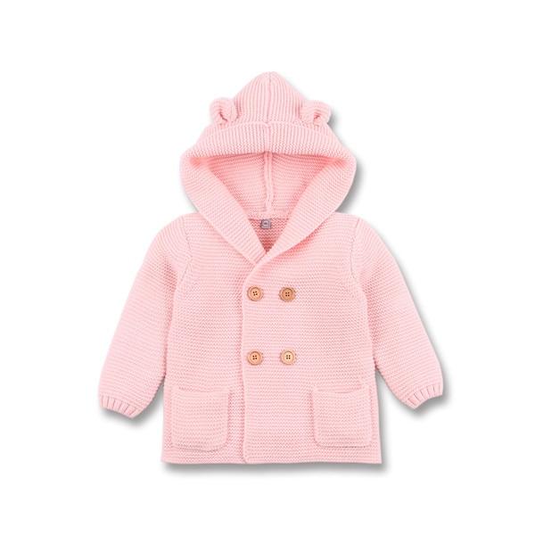 Winter Warm Newborn Baby Sweater Fur Hood Detachable Grey Infant Boys Girl Knitted Cardigan Fall Outwear Children Knitwear SW11 (8)