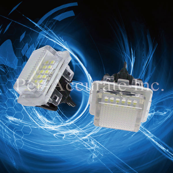 ФОТО 2PCS LED Canbus License Plate Light for Mercedes Benz use W204 C300 C350 W212 E350