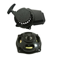 Black Alloy Pull Start&25H 6T Gear Box Clutch Drum For 47/49cc Scooter Pocket Bikes