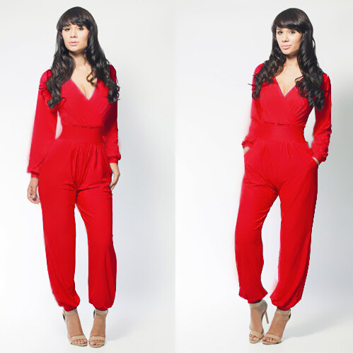Red And Black Jumpsuit | Fashion Ql