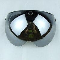 New Arrival Torc Motorcycle Helmet Visor Shield Vintage 3 4 Open Face Visor Shield Clear Black