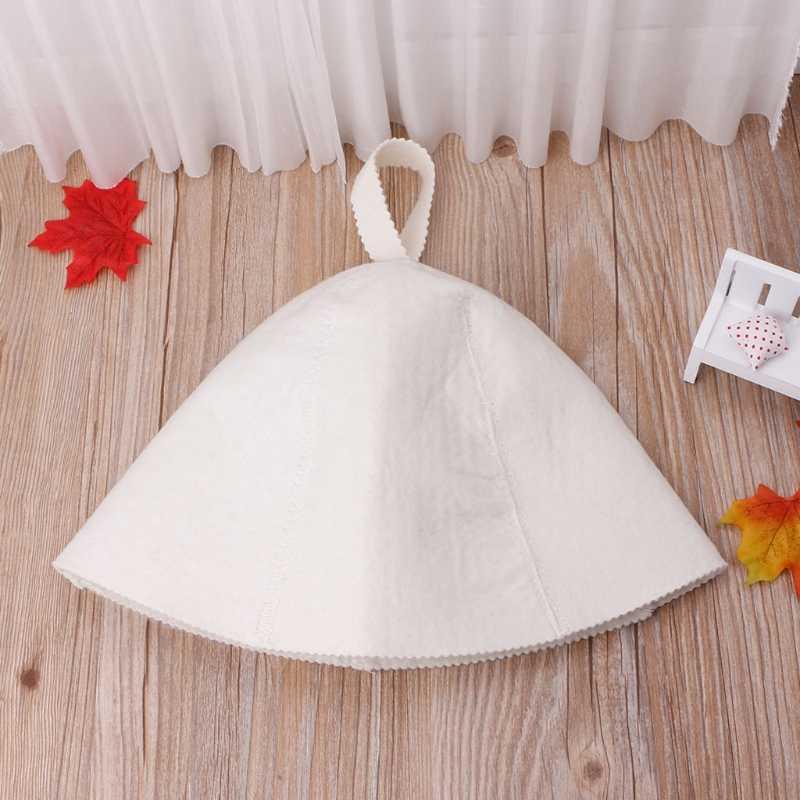 Белый шерсть сауна Hat анти тепла Кепки для ванны дом Глава протектор России Стиль