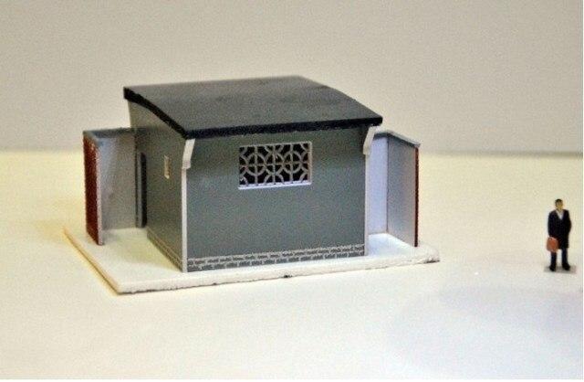 1: 87 HO архитектурные сцена песок Таблица HO старые модели Туалет поезд модель сцены