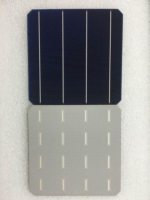 100 قطعة 5.03 واط 20.6% الكفاءة الصف أ 156*156 مللي متر الضوئية أحادية أحادية خلية شمسية سليكونية 6x6 ل لوحة طاقة شمسية