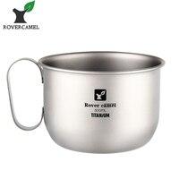 Rover Camel Titanium Coffee Mug 500ml Titanium Milk Cup Cookware Pot Bowl With Fixed Handle Ta8351