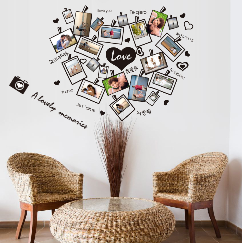 A lovely memory wall quote decal home decor wall picture for living room photo frame wall sticker diy wallpaper wall art poster in wall stickers from home