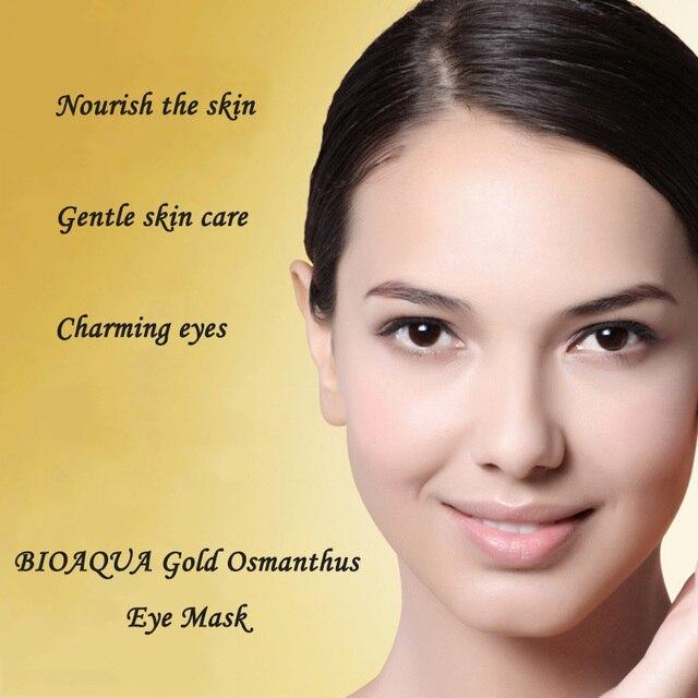 BIOAQUA Gold Osmanthus Eye Mask Eye Patches  Remove Dark Circles Eye Bag Collagen Gel Protein Sleep Patche  Eye Care 4