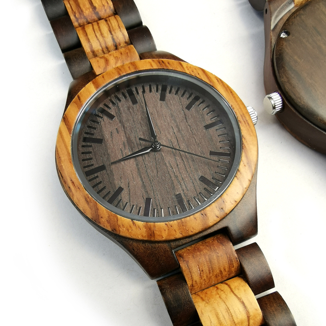 To My Boyfriend The Day I Met You I Found My Missing Piece ENGRAVED WOODEN WATCH 3