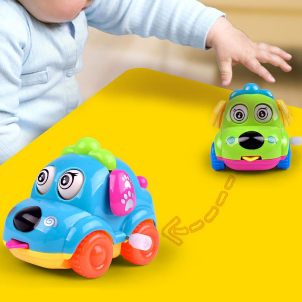 Baby Kids Clockwork Funny Toy Cartoon Spring Animal Toy Children Car Toy