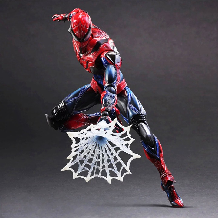 Play Arts Kai Spider Man Spider Venom Spiderman PA Figure Secret Wars Peter Parker 27cm PVC Action Figure Doll Toys Kids Gift