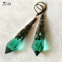 Vintage Classical Earrings For Women Irregular Crystal Pendientes Duzzling Retro Brincos Gifts A35