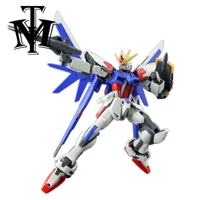 Anime Huiyan Hobby 1/144 Mobile Suit Build Strike Gundam GAT-X105B Model Assembled Robot Action Figure Gift Toys For Children