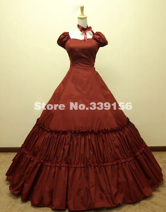 Hot Sale Red Lolita Victorian Ball Gown Southern Belle Lolita Dress Birthday Theme Party Dress Ever After Gown