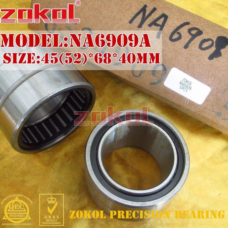 ZOKOL bearing NA6909 A NA6909A Entity ferrule needle roller bearing 45(52)*68*40mm na4822 heavy duty needle roller bearing entity needle bearing with inner ring size 110 140 30mm