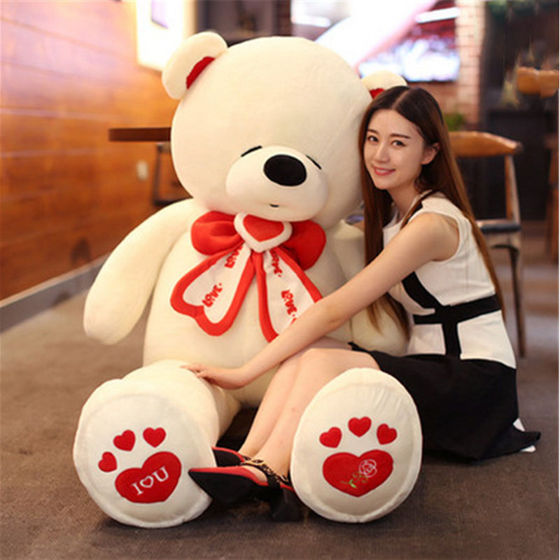 Fancytrader life size giant teddy bear stuffed big valentines day bear i love you toys animals bicycle lpv love promise of vow poke valentines day gifts
