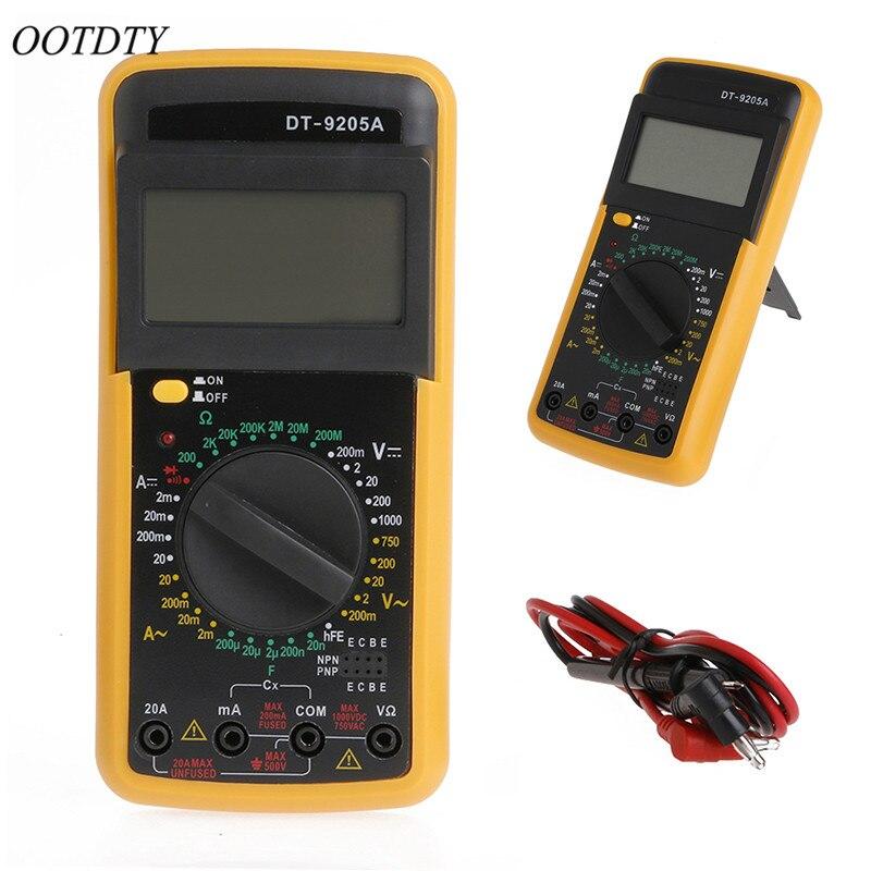 Testeur de capacité de résistance d'ampèremètre ca/cc de multimètre de DT-9205A numérique