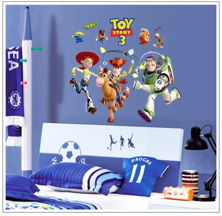 Buzz Lightyear Wall Decals Removable Sticker Kids Decor