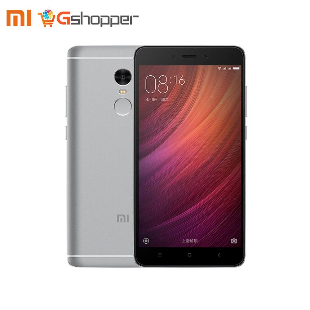 Globale Versione Xiaomi Redmi Nota 4 Qualcomm 3 gb 32 gb/4 gb 64 gb Del Telefono Mobile Snapdragon 625 octa Core 13MP di Impronte Digitali MIUI 8.1