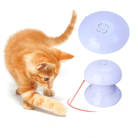 Automatic Funny Cats Dog Toy ABS Resin 360 Degree Flash Interactive Dart Laser Light Teaser Fun Exercise Cat Toy For Puppy Dog