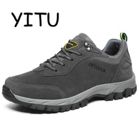 YITU 2018 Men's Trail Running Shoes Men Outdoor Runner Sports Sneakers Breathable Jogging Walking Shoes Rubber Free Shipping HOT