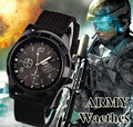 Reloj de los hombres Del Ejército Militar de Cuarzo Deportes Moda Reloj Correa de Tela Moda 3 colores Fuera de la puerta Corriendo Relojes Reloj Caliente